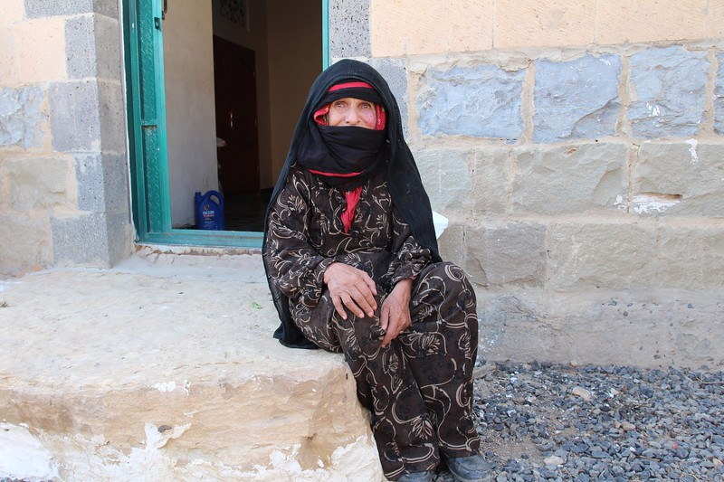 """Thabith.<br /> <br /> She lived at Jabal Ayoub until it was hit by airstrikes and she moved down to the valley with her children and grand children.  <br /> <br /> How old are you? <br /> <br /> """"Phew, I don't know, so you don't need to know""""<br /> <br /> <br /> """"There was bomding and death, I ran away"""" <br /> <br /> She lost three of her family members – two relatives and one of her children. <br /> <br /> """"Before life was fine, now the world has changed, the war has changed everything.""""<br /> <br /> What is your advice for people who have power? <br /> <br /> She laughs. <br /> <br /> """"Nobody would listen to my advise, they will not bother."""" <br /> <br /> Photo: NRC/Alvhild Stromme"""