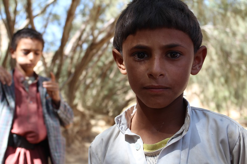 """Nasser Ali (Mohammed's son) is 8 years old. He goes to school, and is now in 2nd grade. He is the only one from his entire family what was not physically hurt when the airstrike hit. <br /> <br /> """"I was sleeping, and then I woke up when there was a big noise, and we ran to the car and drove away."""" <br /> <br /> Photo: NRC/Alvhild Stromme"""