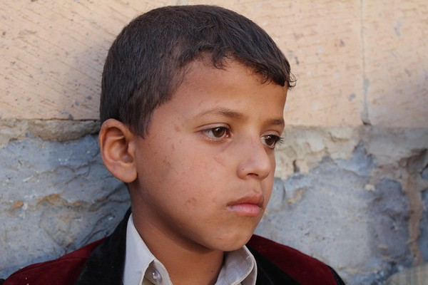 Hamza Naser is  9.  He wants to become a soldier. <br /> <br /> Photo: NRC/Alvhild Stromme
