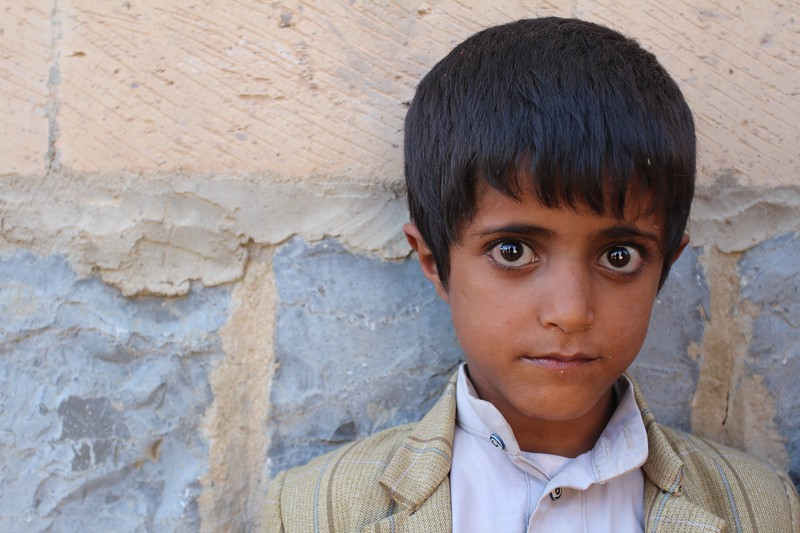 """Naji Mohammed is 5<br /> <br /> """"I want to become a doctor."""" <br /> <br /> Photo: NRC/Alvhild Stromme"""