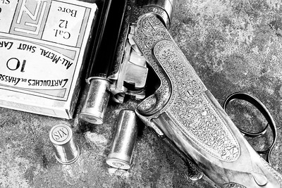 Holloway & Naughton Shotgun with vintage cartridges