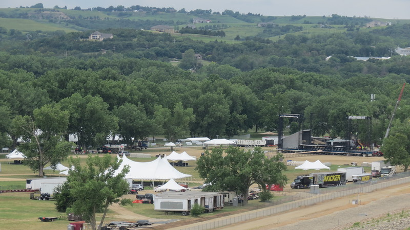 Grounds being prepared for Kicker Country Stampede<br /> (Rachel Kamm | Collegian Media)