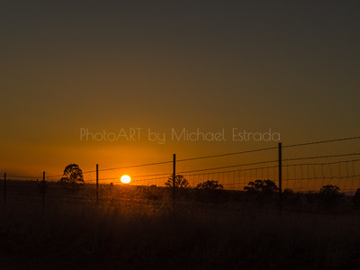 Sunset on the Line