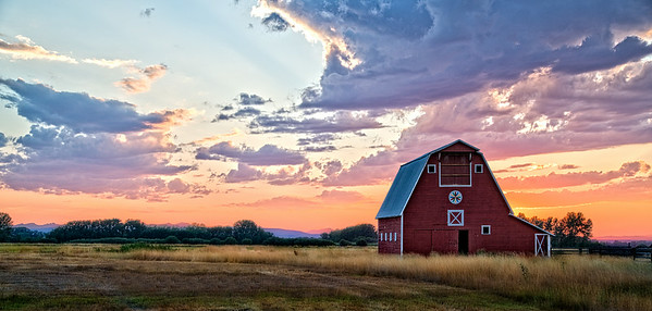 Aug 29 - A Country Sunset<br /> <br /> I took this image in Bozeman, Montana.  We enjoyed time when taking our son back to college there.  We all love Montana and may end up there one day if our son decides to stay.