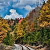 RR tracks in fall near Philippi West Virginia