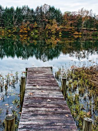 Wooden Dock #2 on Oral Lake in Bridgeport, WV