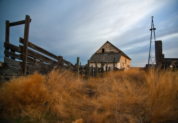 Mar 19 - Old Barn and Cattle Chute<br /> <br /> Another old building location shot at sunrise<br /> <br /> Thanks so much for your kind comments on my image yesterday!