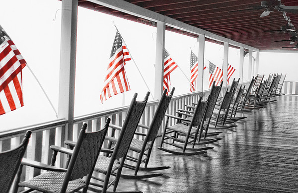Memorial Day Lake Floyd WV - selective color