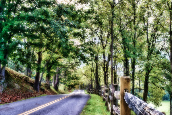 Country road near Water Smith Park in WV