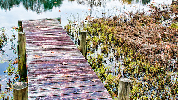 Wooden Dock #3 on Oral Lake in Bridgeport, WV