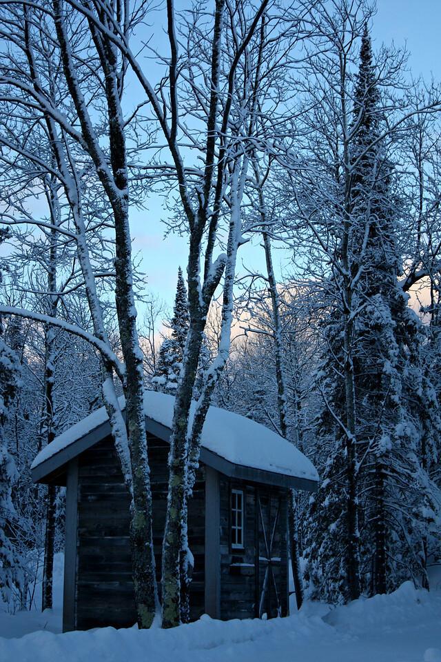 Frozen Garden Shed
