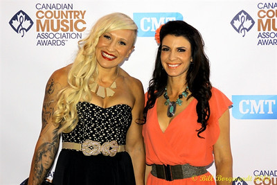 Kaillie Humphries & Mellisa Hollingsworth - Green Carpet - CCMA13 Day4 4451