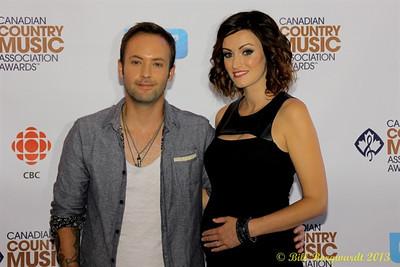 Dallas Smith & wife - Green Carpet - CCMA13 Day4 4664