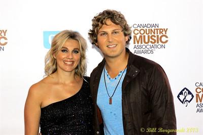 Jason Blaine & wife - Green Carpet - CCMA13 Day4 4434