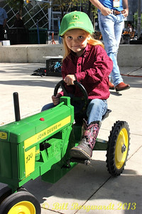 One of team Gregory's top drivers at the Great John Deere Tractor Race