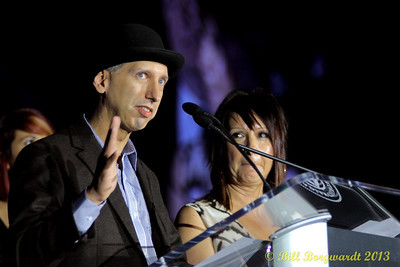 Wade Langham & sister Laura accepting their mother, Rita MacNeil's induction into the Canadian Country Music Hall of Fame - Gala Dinner & Awards Presentation