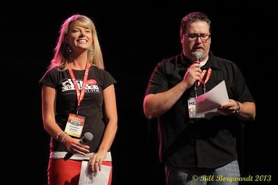 Jacqueline Greenly (CISN) & Gruff Gusnowsky (CFCW) - Fan Fest hosts