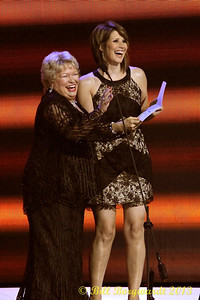 Carroll Baker & Lisa Brokop - Presenters - Male Artist of the Year - CCMA Award Show