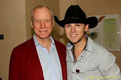 Brett Kissell with hisa manager, Bob Doyle