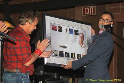 Jim Cressman presents Charlie Major with an award - MDM Party