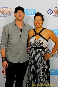 Tim Hicks & wife - Green Carpet - CCMA D4 5950