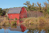 Old barn reflecting