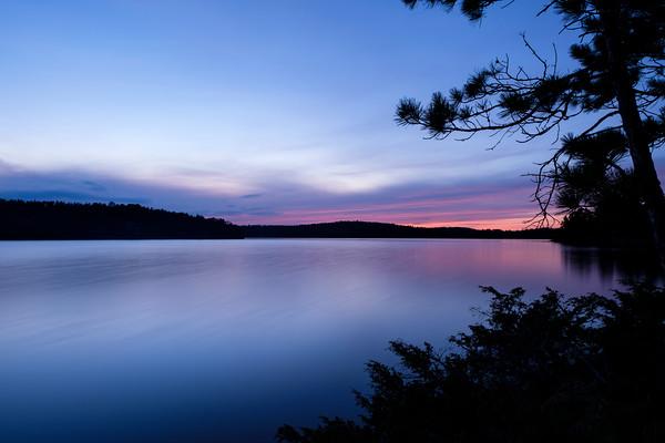 Long Sunset on Loon Lake