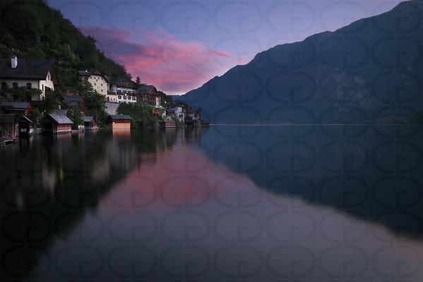 Dawn in Hallstatt