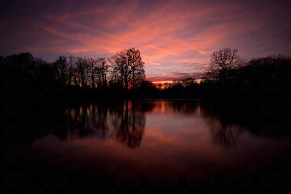 Sunset in Park Schönbusch