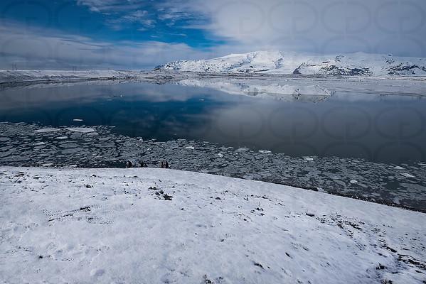 Looking Down on Jökulsárlón Glacier Lagoon