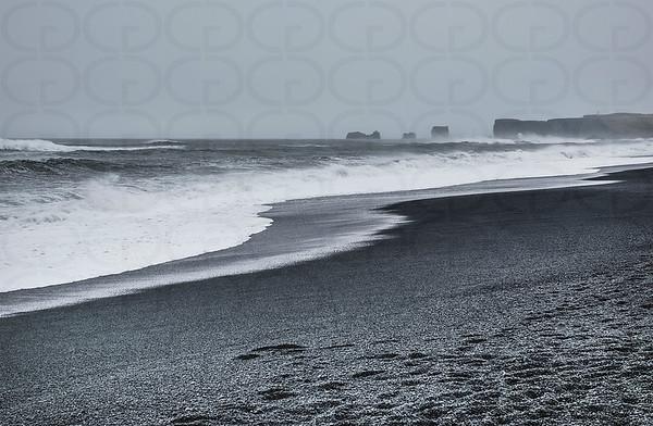 Surf on the Reynisfjara Beach