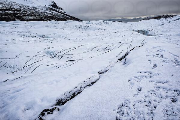Atop the Svinafellsjokull Glacier