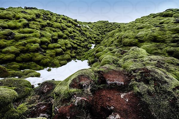 The Lava Fields in Winter