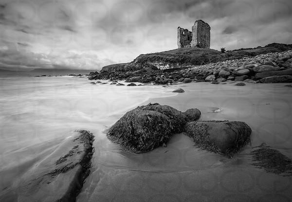 Minard Castle (Monochrome)