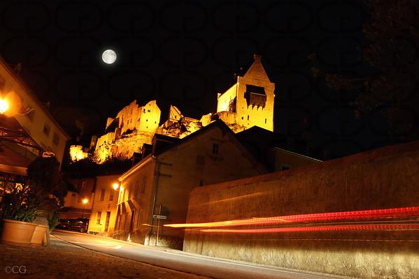 Larochette Castle at Night