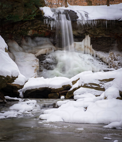 Blue Hen Falls Freezing Over
