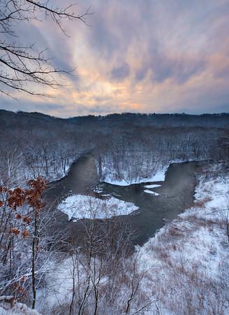 The Cascade Overlook in Winter 1