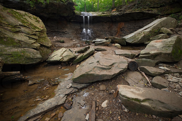 Blue Hen Falls, After a Dry Summer
