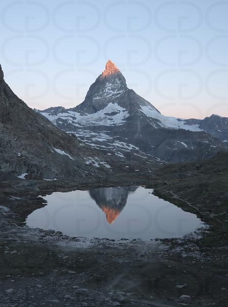 Matterhorn at Sunrise Portrait 1