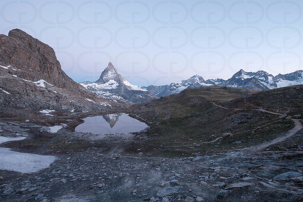 At the Riffelsee Just Before Sunrise