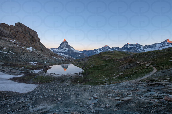 Above the Riffelsee at Sunrise
