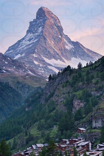 The Matterhorn Over Zermatt