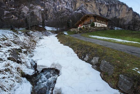 Alpine Home in Winter
