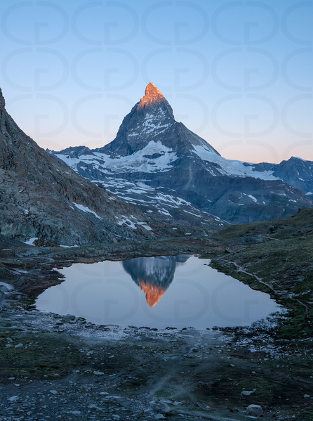 Matterhorn at Sunrise Portrait 2