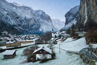 A Snow Dusted Morning in Lauterbrunnen