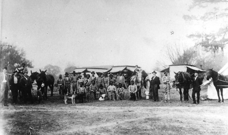 Berrien County Convict Camp about 1909. Photo courtesy of Steve Fellman. Identification requested. Contact berriencountyga@alltel.net