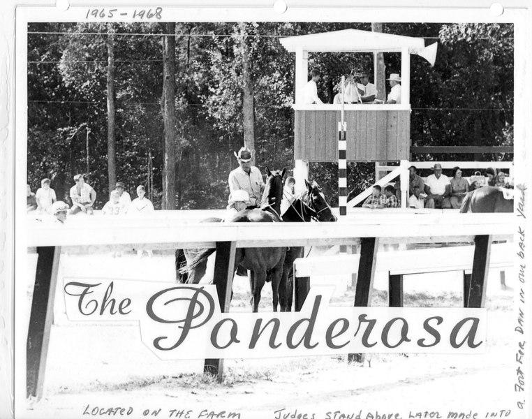 The Ponderosa Quarter Horse Race Track. Owner Jim Paulk and crew.