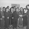 The Nashville Herald, February 17, 1949<br /> LEGIONNAIRES OF THE EIGHTH DISTRICT met in Nashville Sunday, and a welcome was extended by Bill Perry, right, commander of Berrien county's Otranto post.  Others, left to right, are:  Fred Ginter, Hinesville, First District Legion Commander; W.L. Kilroy, Savannah, junior vice commander of Georgia; J.B. Walker, of Nashville, Eight District adjutant; Herbert Moon, Americus, state director of Selective Service; Fred T. Allen, Nashville, Eighth District Legion Commander; Mrs. Fred T. Allen, president of Eighth District Auxiliary; Hoyt Wimpey, Thomasville, past department commander; R.S. Williams, Valdosta, Grand Chief de Tram, Georgia Forty and Eight; John Williams, Valdosta, past commander of the Legion; Mrs. P.M. Wise, Winder, state Auxiliary president; Mrs. F.J. Burns, Brunswick, second vice president of Georgia Auxiliary, Commander Perry.<br /> <br /> (photo by Jamie Connell)