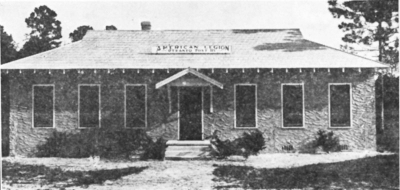 American Legion Building from newspaper proof.