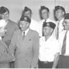American Legion Officers, July 1947<br /> <br /> The Georgia Legionnaire, August 1947<br /> photo caption:<br /> NEW OFFICERS FOR OTRANTO - Georgia Department Commander of the American Legion, W.E. Burdine (left), installed new officers of Otranto Post 115 (Berrien County) July 7 and is shown congratulating Fred T. Allen, post commander.  Looking on are:  E.A. Alexander, historian; P.L. Pittman, chaplain.  Back row, left to right:  Bennie L. Tygart, vice-commander; A.D. Harnage, sergeant-at-arms; Bayne Griffin, finance officer; R.E. Williams, adjutant. (Photo by Jamie Connell)